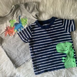 Other - Lot of Two Dino Short Sleeve T-Shirts | 12-18 MNTH